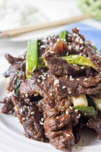 Mongolian beef is fast, easy and delicious!