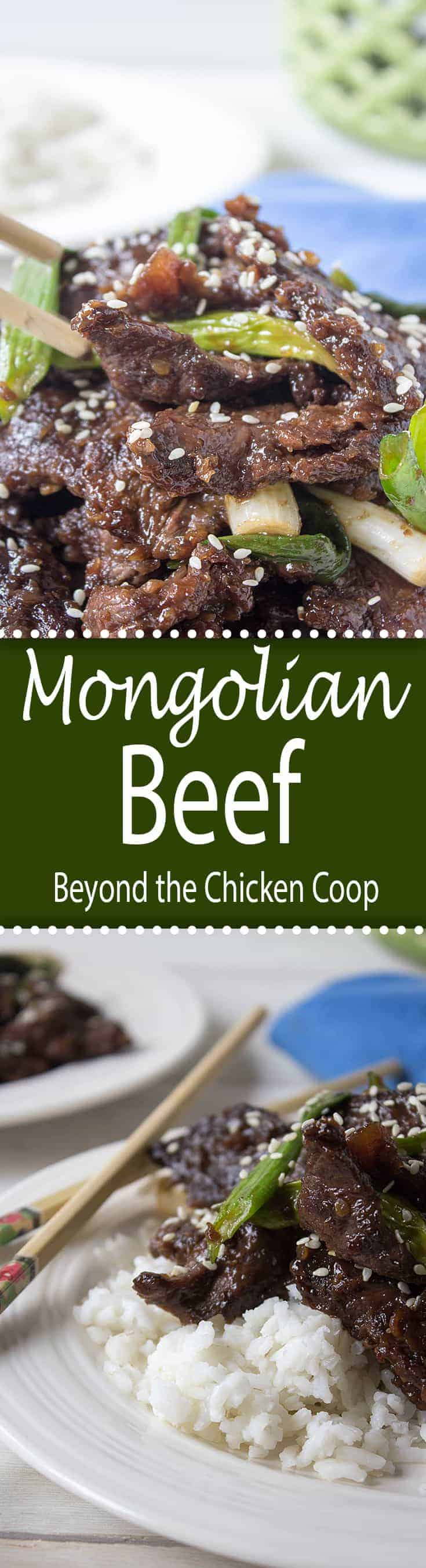 No need for take-out any longer! This Mongolian beef is a perfect make at home dinner. Made with elk meat or beef! #Chinesefood #MonolianBeef #elkmeatrecipe #wildgame