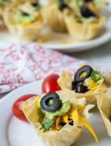 Black bean taco cups are just what you need for your next party!