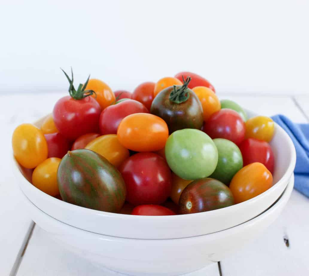 Fresh tomatoes for Heirloom Tomato Salad