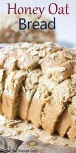 Slice Bread topped with oats.