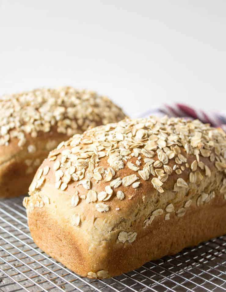 Fresh Baked Homemade Honey Oat Bread