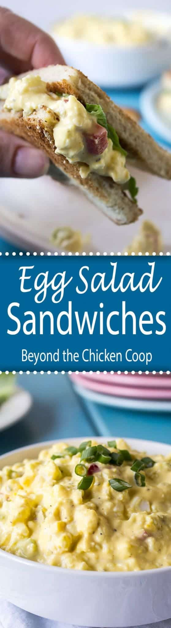 Egg salad sandwiches are a perfect way to use up all those Easter Eggs!