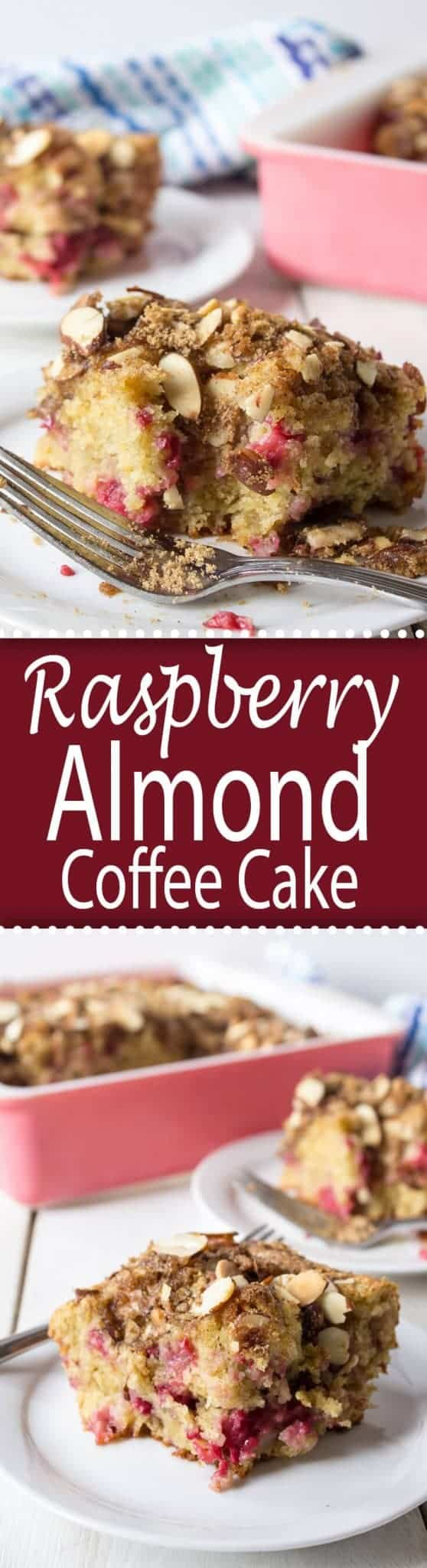 This Raspberry Almond Coffee Cake is perfect for breakfast, brunch or dessert!