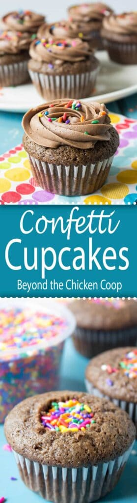 Cupcakes filled with a hidden surprise! Confetti Cupcakes