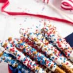 Fun and Patriotic White Chocolate Pretzels