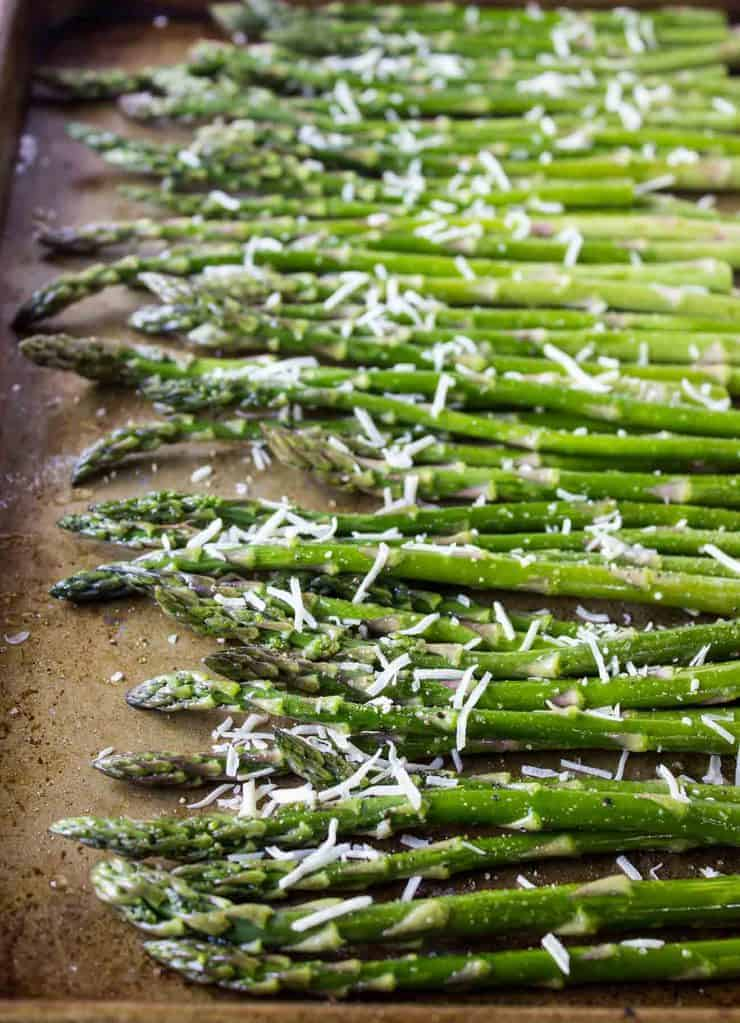 Roasted Asparagus ready for the oven.