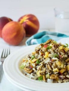 Quinoa, Brown Rice and Peach Salad
