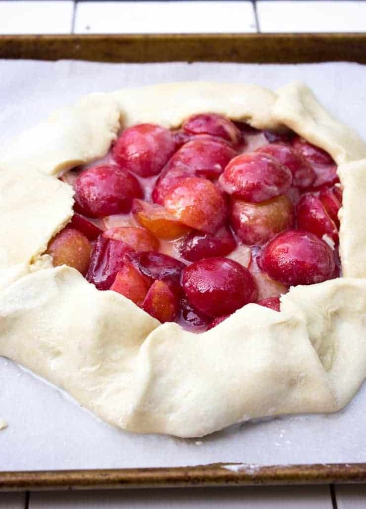 Plum Galette ready for the oven