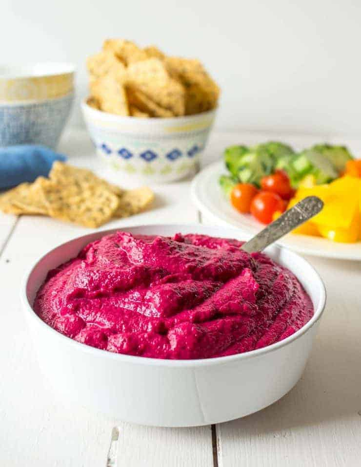 Amazing natural color and flavor are a winning combination in this beet hummus.