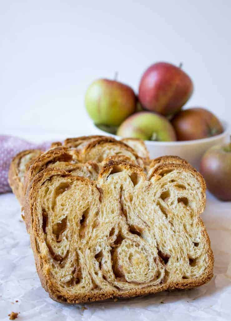 Apple Cinnamon Babka is delicious toasted or just with a pat of butter.