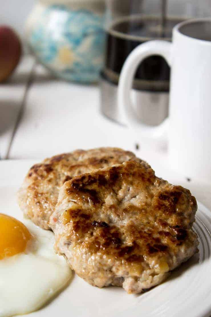 Start your day out with this homemade apple pork breakfast sausage