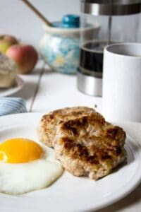 Homemade apple pork breakfast sausage