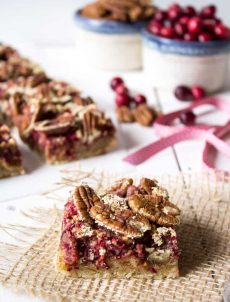 Cranberry Pecan Bars are perfect for the holidays.