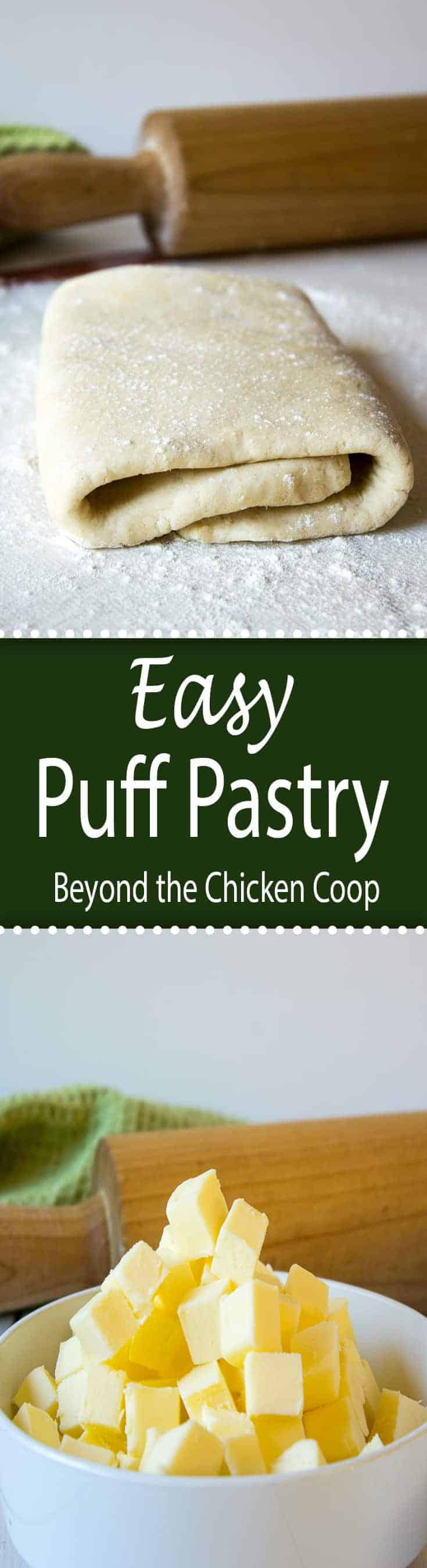 Make your own puff pastry at home using this Easy Puff Pastry Recipe! #puffpastry #easypuffpastry #baking