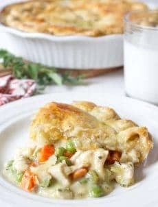 Homemade chicken pot pie is comfort food at its finest.