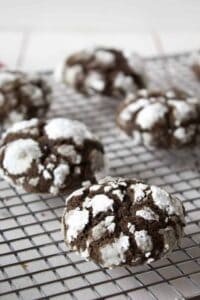 Chocolate crinkles are a favorite holiday cookie.