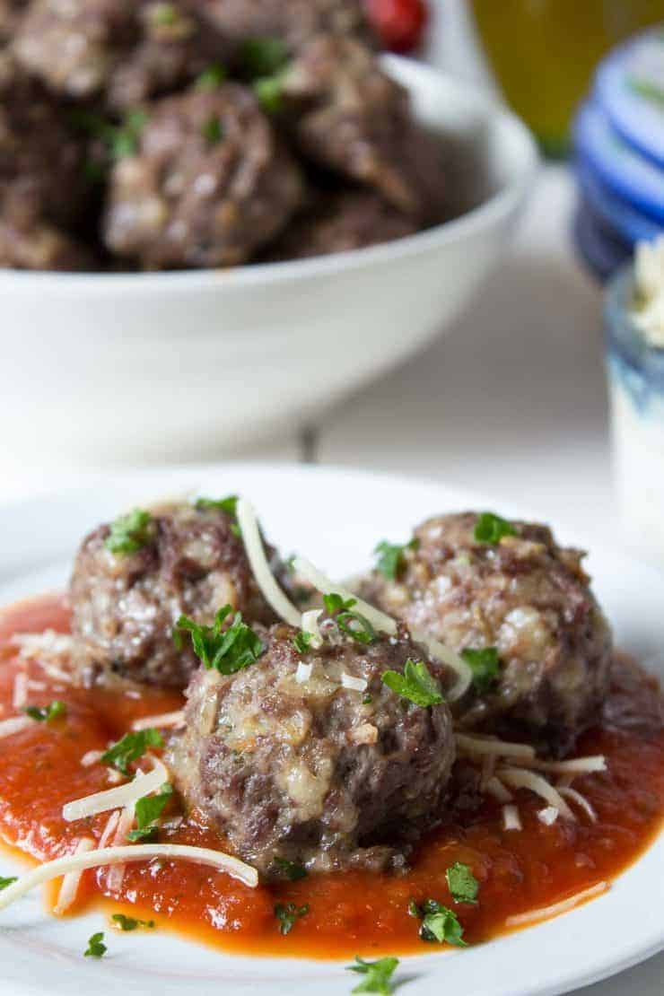 Italian style meatballs made with ground wild elk meat. This recipe can be made with any type of game meat or domestic meat.
