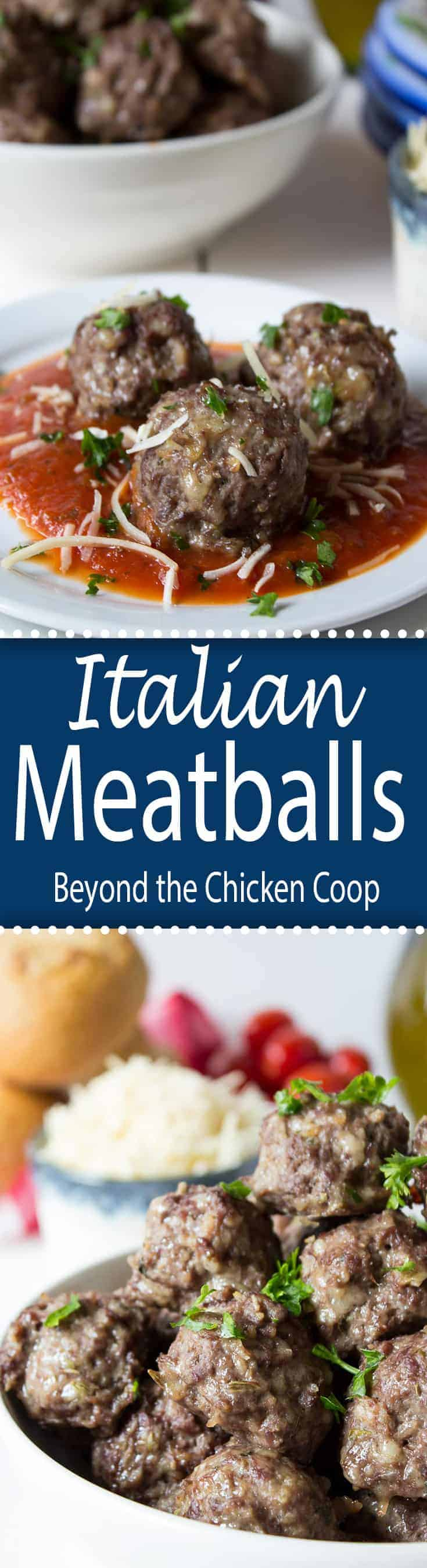 Italian style meatballs made with ground elk meat.
