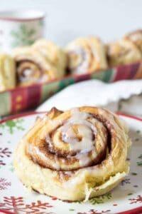 Homemade cinnamon rolls make a perfect holiday breakfast.