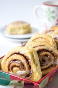 Beautiful homemade cinnamon rolls.
