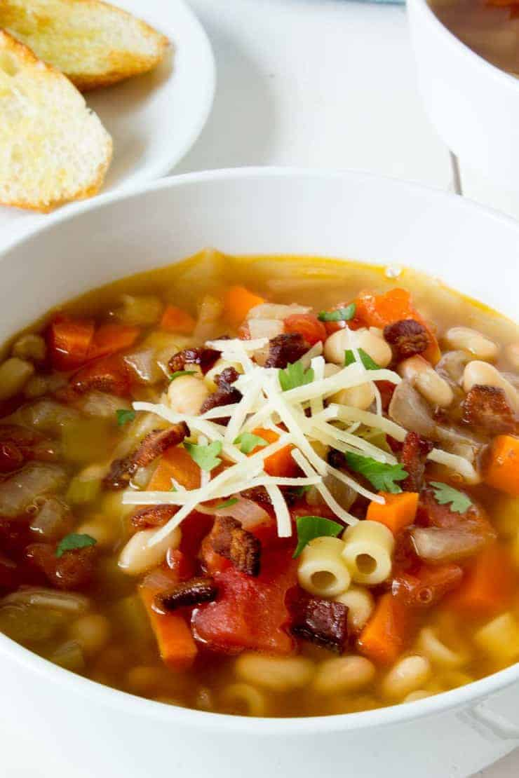 Pasta e Fagioli is a delicious meal all in itself.