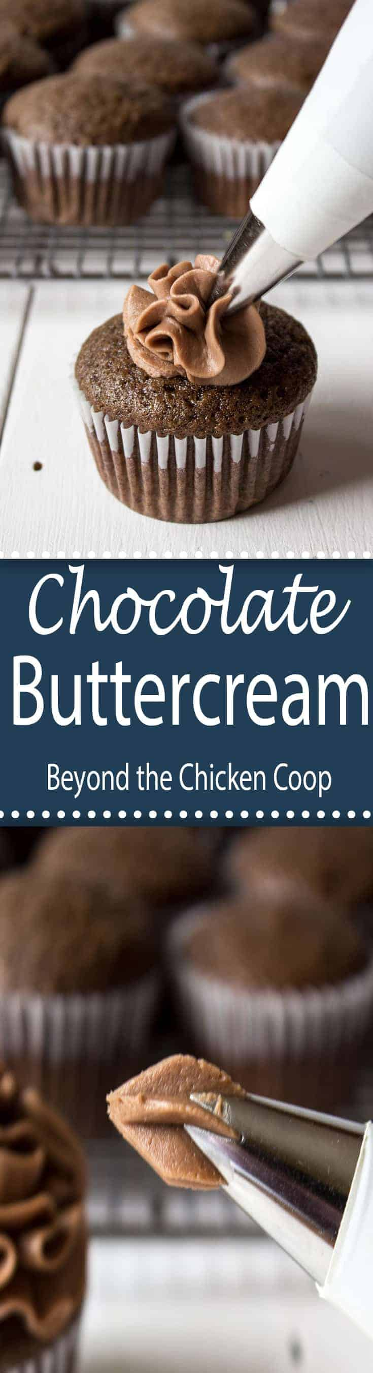 Chocolate Buttercream Frosting is a perfect frosting for any cupcake or cake!