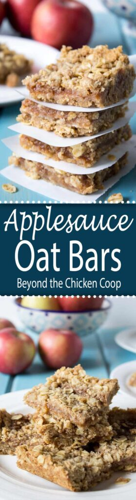 Oatmeal Bars filled with a delicious applesauce filling.
