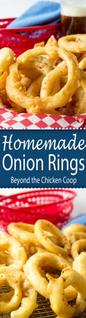 Crispy, crunchy homemade onion rings.