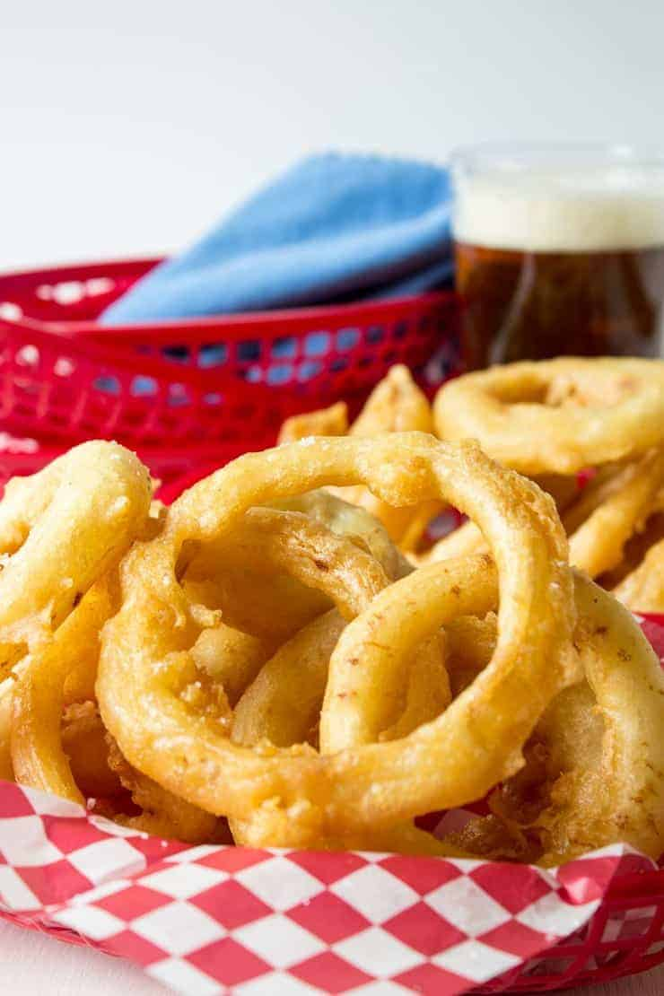 Crispy onion rings are just like what you'd get in a restaurant