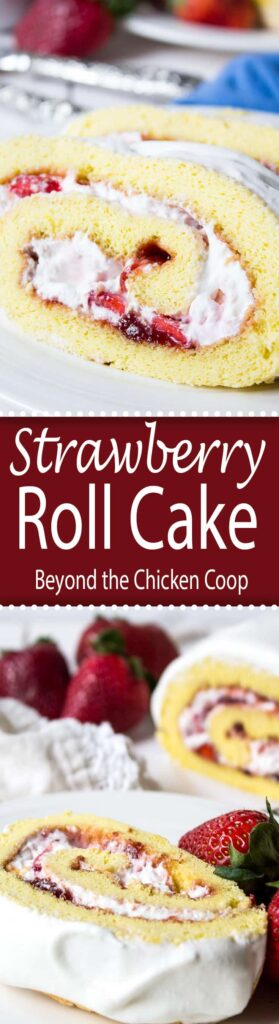 Fresh strawberries and whipped cream rolled into a light sponge cake makes an impressive dessert.