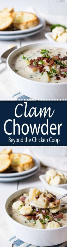 Thick and rich homemade clam chowder made with fresh caught clams. This clam chowder is perfect for lunch and hearty enough for dinner.