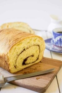 Cinnamon Swirl Bread is perfect for breakfast. It can be eaten by itself or used for French Toast!