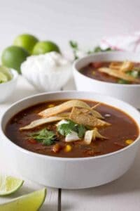 Bowl of enchilada soup