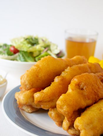 Beer Battered Fish made with walleye fish.