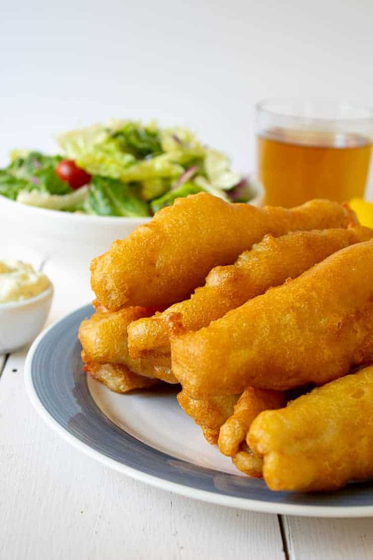 Beer Battered fish made with walleye fish