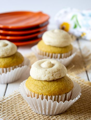 Pumpkin Spice Cupcakes has all the flavors of fall in one delicious cupcake.