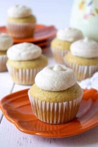 Pumpkin pie spiced cupcakes
