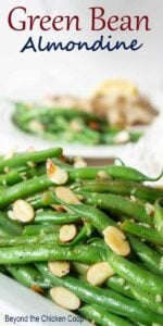 Fresh green beans with almonds.