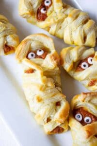 Mummy pies with fun candy eyes.