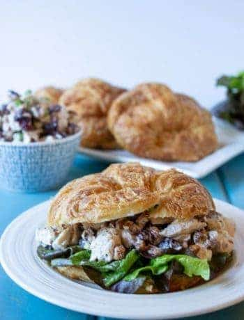 Cranberry Pecan Chicken Salad on a croissant.
