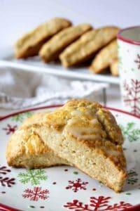 Homemade Eggnog Scones are perfect for the holidays.