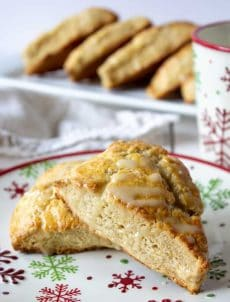 Homemade Eggnog Scones are perfect for the holidays.