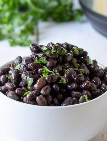 Black beans cooked in an electric pressure cooker.
