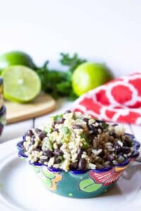 Black beans and rice makes a perfect side dish or lovely lunch dish.