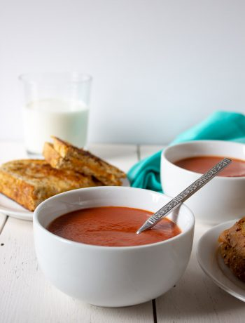 Quick cooking Creamy Tomato Soup. This soup can be on the table in 10 minutes.