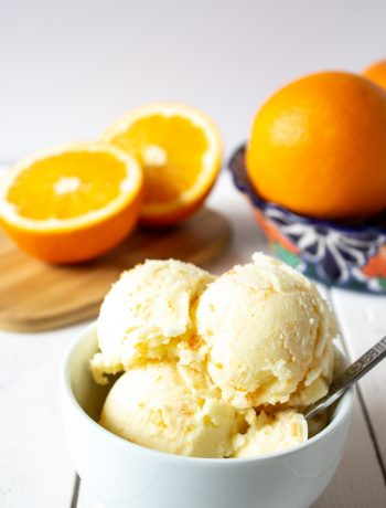 Homemade Orange Sherbet is a delicious treat anytime of the year.