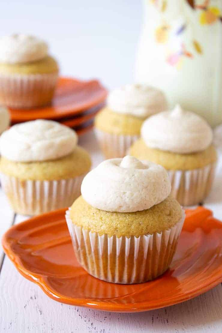 Pumpkin Spice Buttercream on cupcakes.