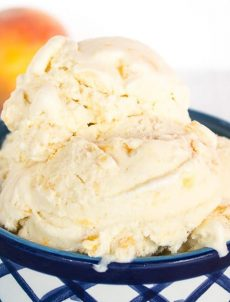 A Bowl of Old Fashioned Peach Ice Cream