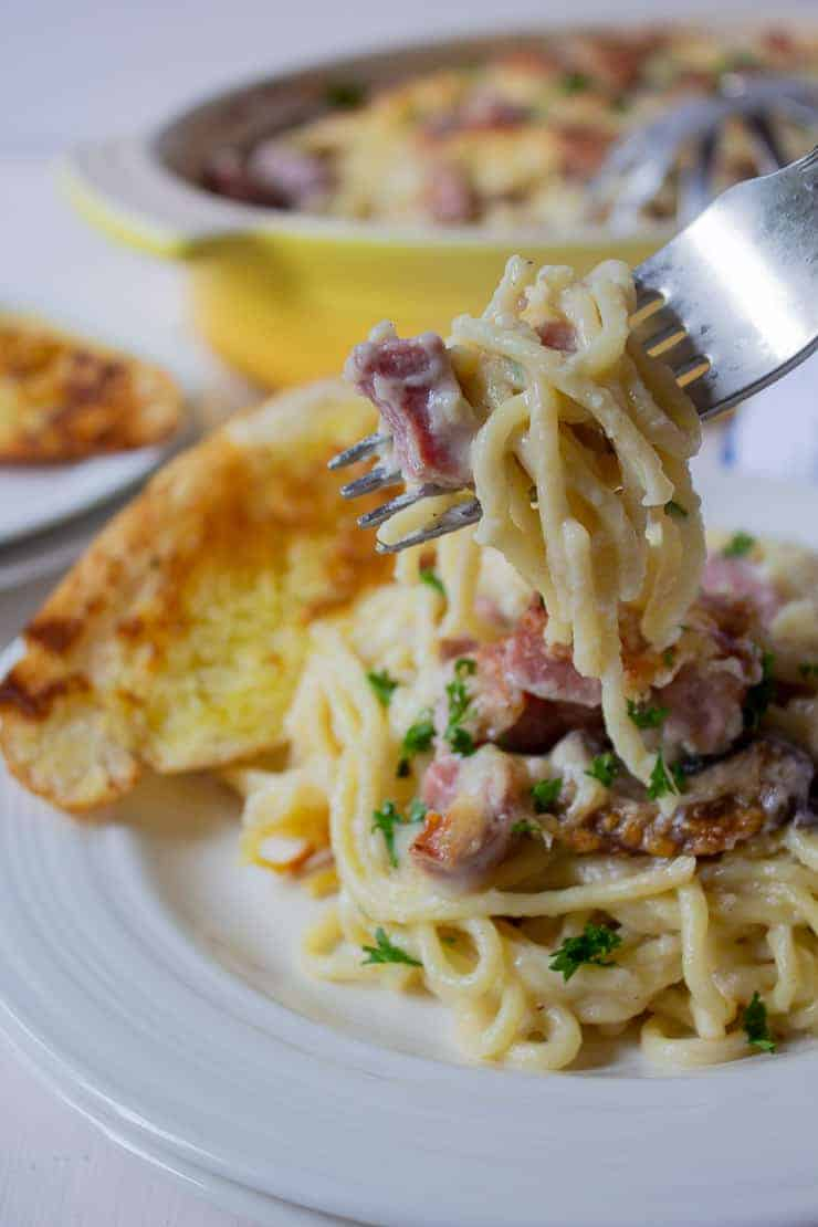 A forkful of Ham Tetrazzini